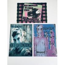 Gender Postcards set of 3