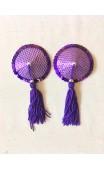 Nipple Pasties - Purple Disco