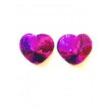Nipple Pasties - Purple Hearts