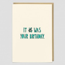 Belated Birthday Greeting Card