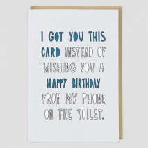 Birthday Toilet Greeting Card