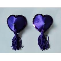 Purple Hearts & Tassel Nipple Pasties