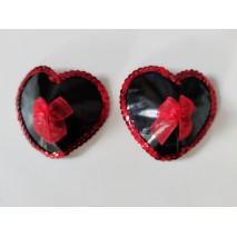 Black&Red Ribbon Nipple Pasties
