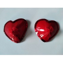 Red Ribbon Nipple Pasties