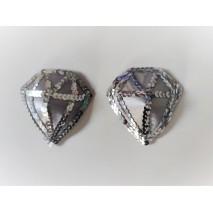 Silver Diamond Nipple Pasties